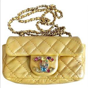 Chanel collectors item mini w crystal cc turn lock